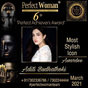 Aditi Budhathoki- Most Stylish Icon by Perfect Woman Magazine