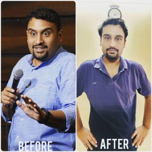 Inder Sahani's weight loss journey