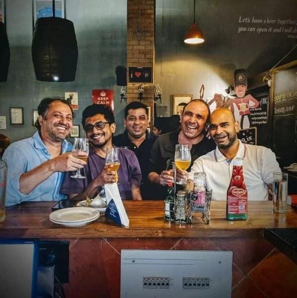 Bikramjeet Kanwarpal enjoying his time with his friends