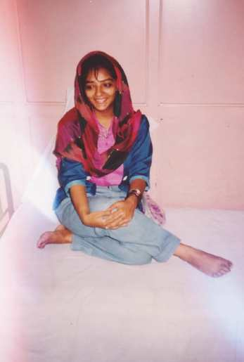 Kanu Priya during her younger days