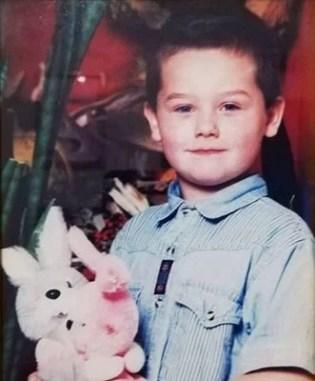 Kamil Wodka as a child