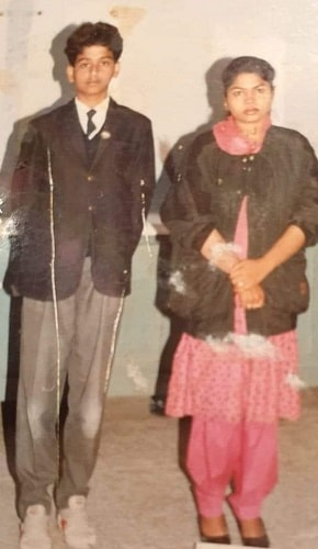 Nithin Kamath in his school days