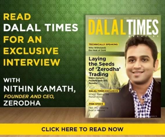 Nithin Kamath featured on the cover of Dalal magazine