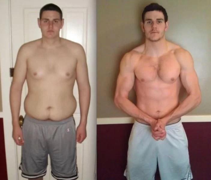 Sarah Thomas's boyfriends body transformation