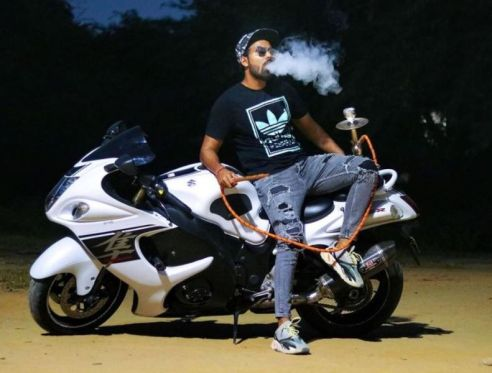 Gaurav Sharma with his Hayabhusa