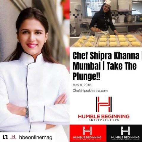 Shipra Khanna on a magazine cover page