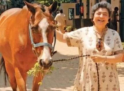 Zia Mody with her horse, Sacrius