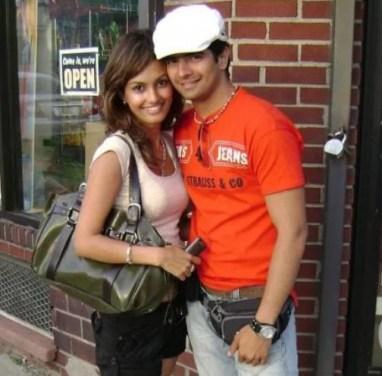 An old picture of Nisha Rawal and Karan Mehra