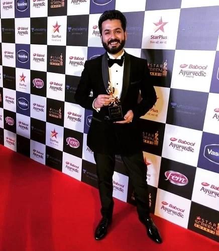 Aditya Dhar with his Star Screen Award