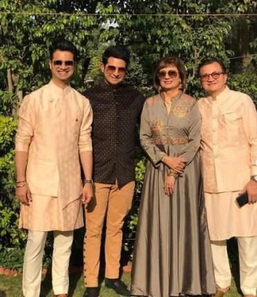 Karan Mehra with his parents and sibling