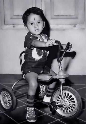 Shaman Mithru's childhood picture