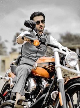 Shahzad Sheikh on his Harley Davidson Street 750