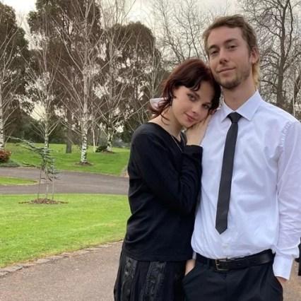 Ella Newton with her boyfriend, Feacha
