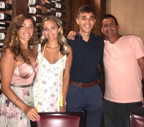 David Iacono with his family