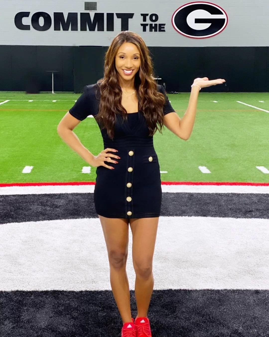 Maria Taylor HOt in Black Short Skirt