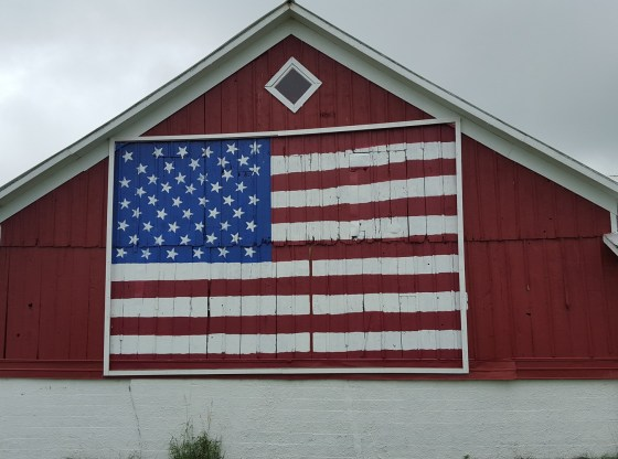 house with US Flag