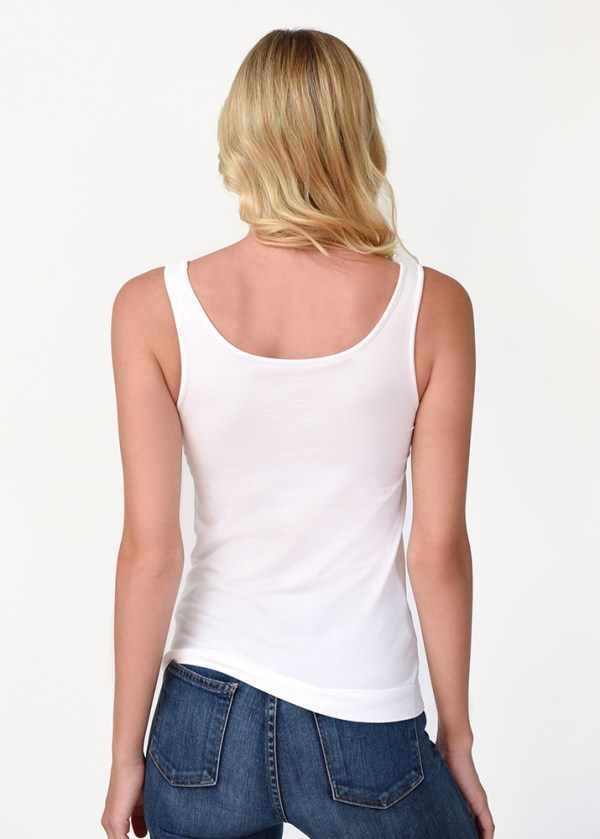 The Everyday Tank in White Back View