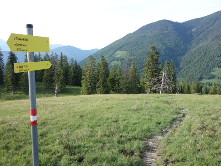 Der erste Trail der Dürrach Trails sartet von der Lerchkogel Alm und ist beschildert ...