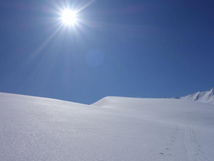 Bockhart gefroren geht's zum Schluss nordseitig auffi...