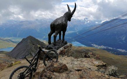 Piz Nair, Bike 3.000er in St. Moritz, Corviglia