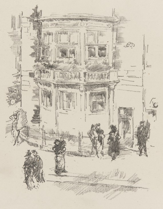 The Manager's Window, Gaiety Theatre; James McNeill Whistler; 1896; Gift of Charles Lang Freer, F1896.76