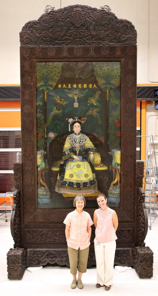The Empress Dowager, larger than life.