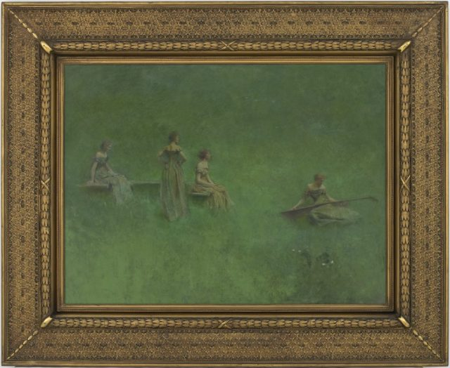 """The Lute"" by Thomas Wilmer Dewing, 1904; Gift of Charles Lang Freer, F1913.34a"