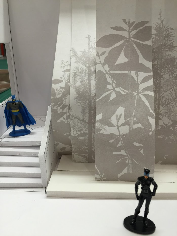 Sōtatsu maquette (with Batman and Catwoman)