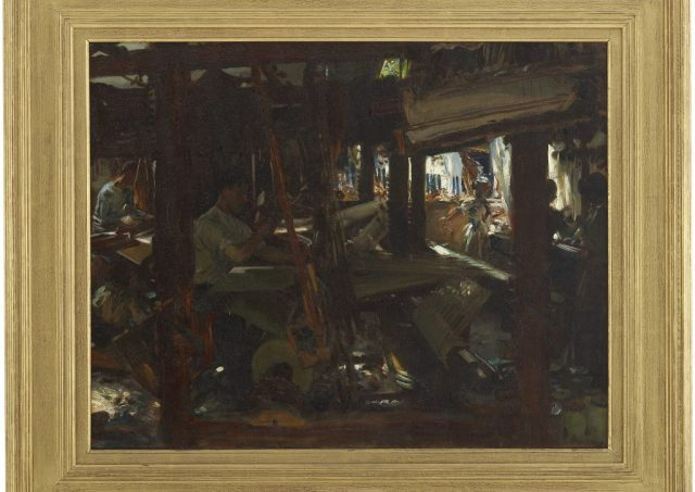 The Weavers, John Singer Sargent, oil on canvas, 1912, F1913.59a-c, Gift of Charles Lang Freer