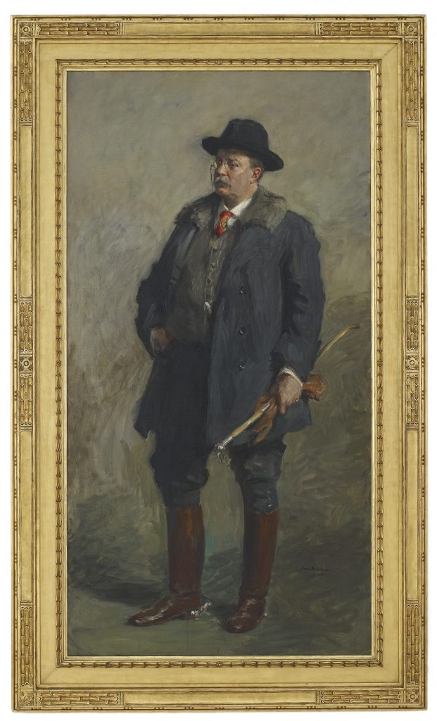 Portrait of President Theodore Roosevelt; Gari Melchers (1860–1932); United States, 1908; oil on canvas; Gift of Charles Lang Freer, F1908.17a