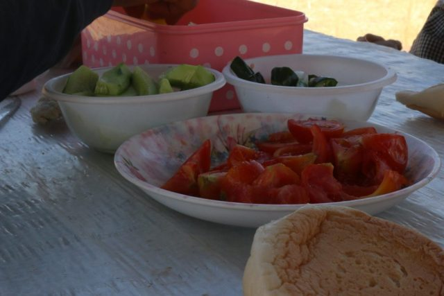 A variety of fresh food on table.