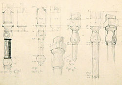 Sketches of a column and capital