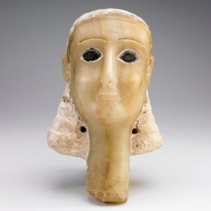 Alabaster carving of a female head