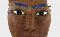 Face from an ancient Egyptian coffin