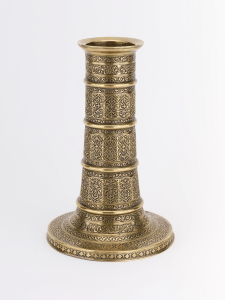 highly decorative brass lamp stand