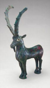 Green goat figurine