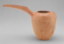 Light orange pot with long spout