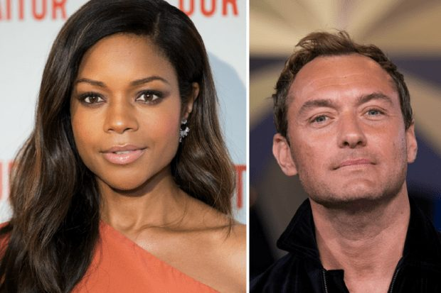 Naomie Harris and Jude Law