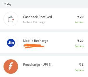 Freecharge Free Recharge Proof