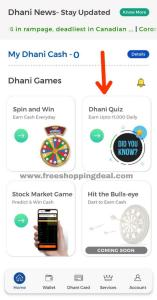 Dhani Quiz Answers 01