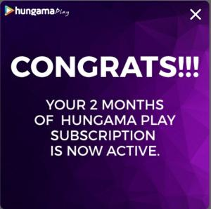 Hungama Play 2 Month Premium Subscription For Free 04