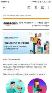 Proof of Amazon Prime Membership Free