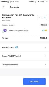 How to Buy Amazon Gift Voucher at 5% off From MagicPin