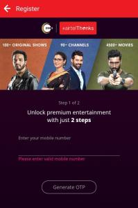 Zee5 Premium membership From Airtel Thanks App 04