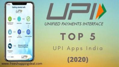 Top 5 Best UPI App in India