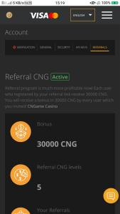 Coinsbit CNG Airdrop Refer and Earn 10