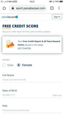 How to Check Credit Score on Paisa Bazaar 01