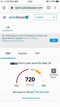 How to Check Credit Score on Paisa Bazaar 06