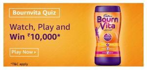 Amazon Bournvita Quiz Answers