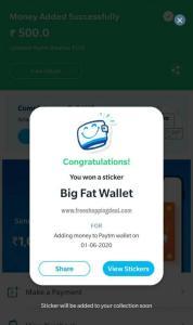 Paytm Big Fat Wallet sticker